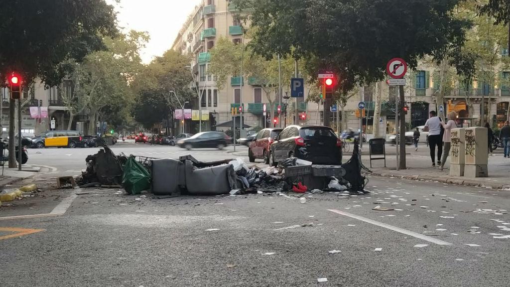 restes barricada endemà protestes