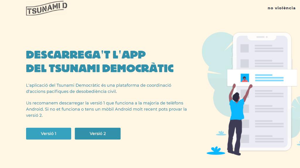 pàgina web tsunami democràtic