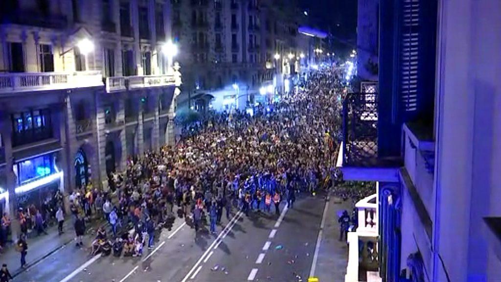 Protesta a la Via Laietana