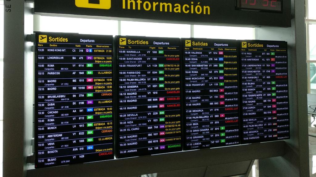 vols cancelats sortides aeroport barcelona
