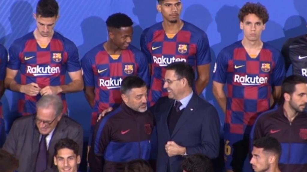 El Barça presenta el futbol formatiu