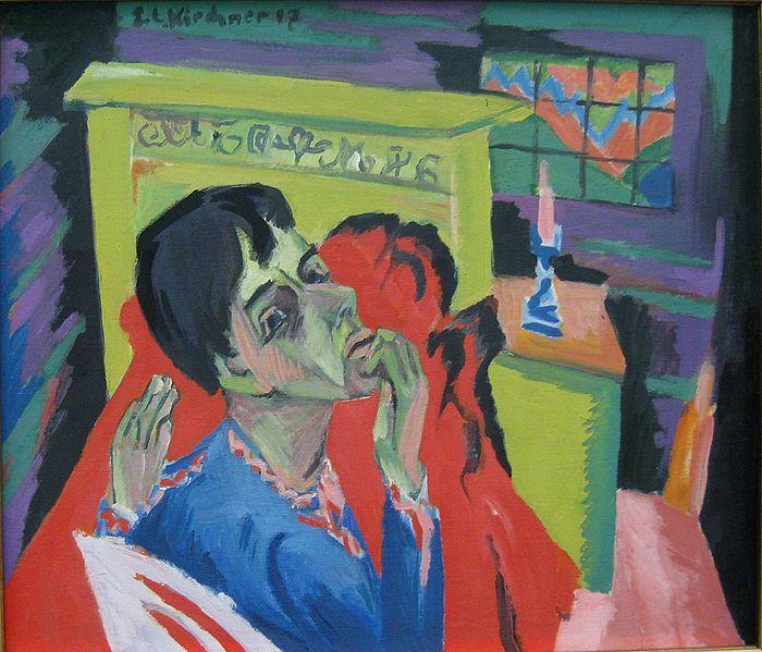 E.L Kirchner. Autoretrat malalt (1918)