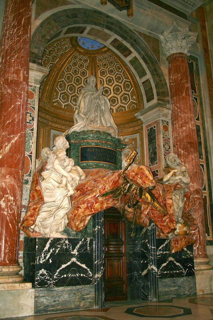 La tomba d'Alexandre II al Vaticà, de Bernini (1671–1678)