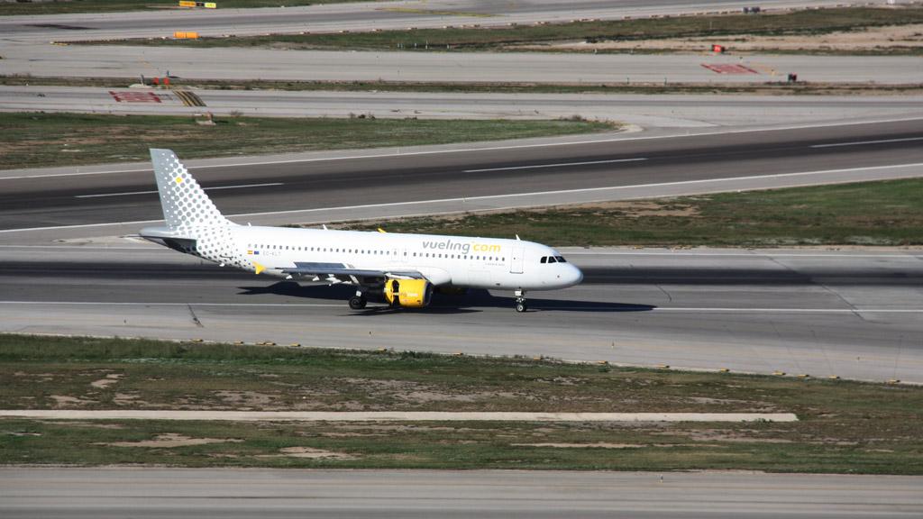 Avió de Vueling a l'aeroport del Prat