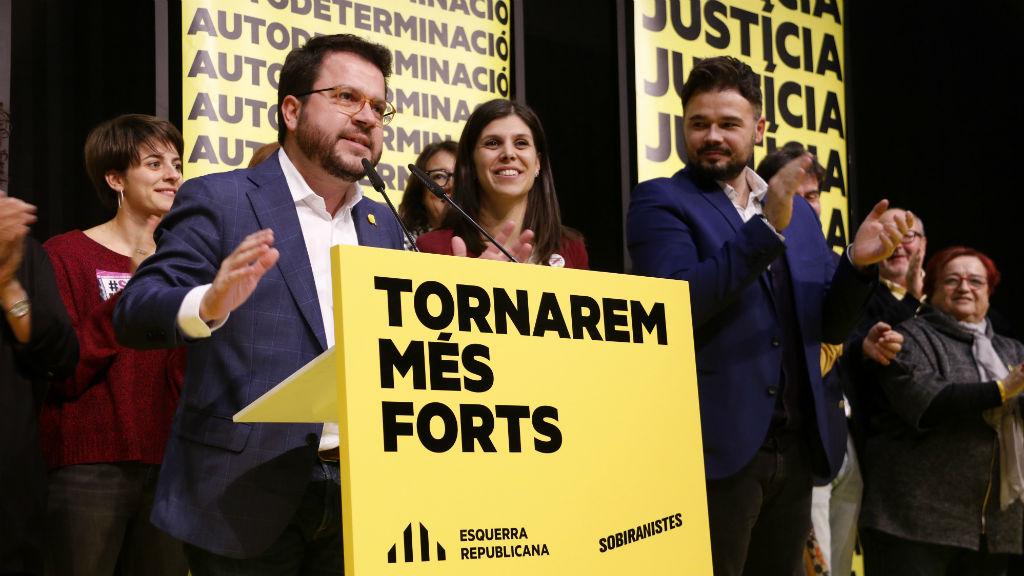Aragonès Rufian eleccions 10 novembre