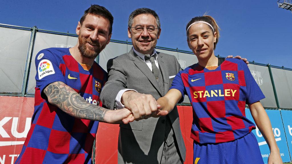 Foto capitans Leo Messi i Vicky Lossada temporada 2019/20
