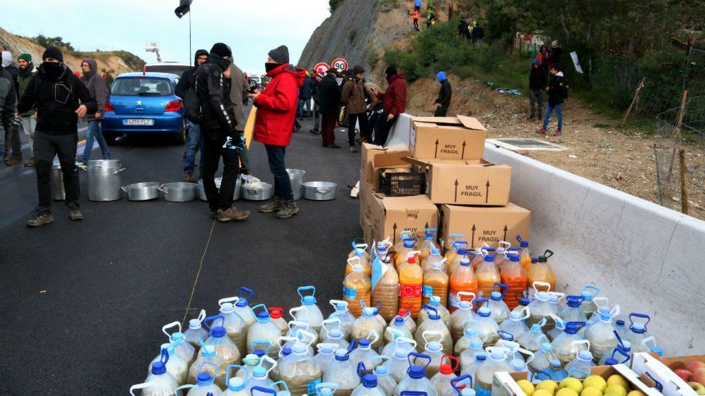 Menjar tall autopista Tsunami Democràtic