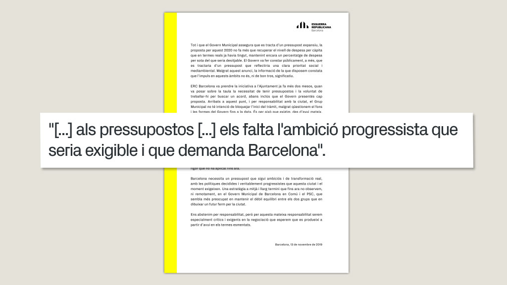 comunicat ERC pressupost