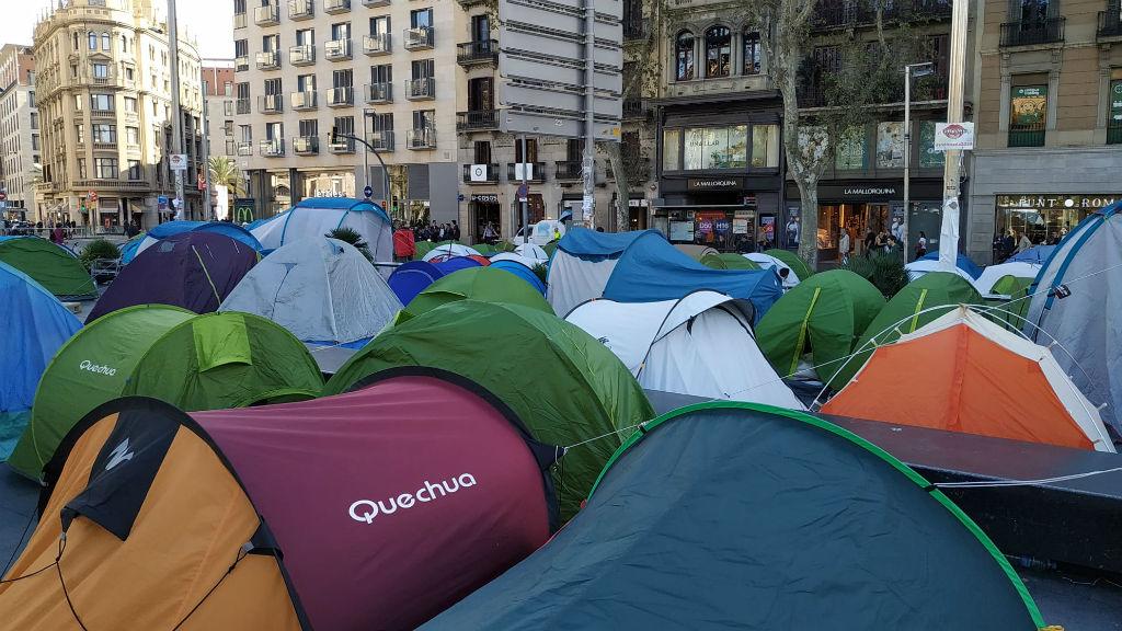 Sisè dia acampada Universitat