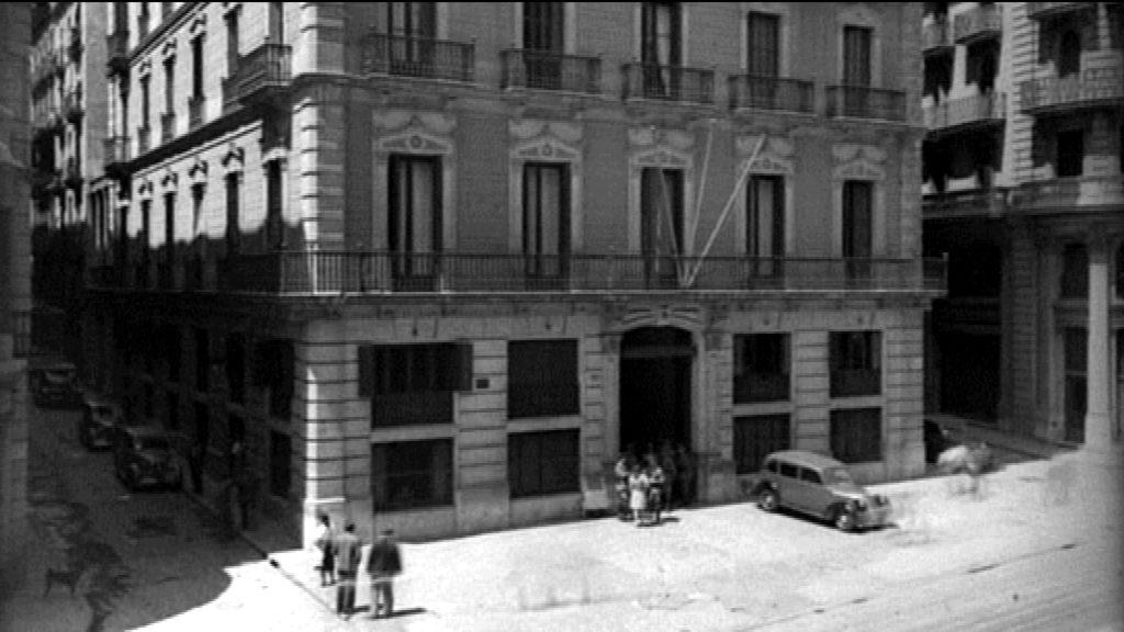 Edifici de la Prefectura Superior de Policia durant l'època franquista
