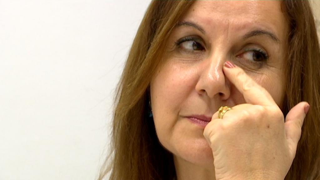 Carmen Muñoz assisteix al grup terapèutic.