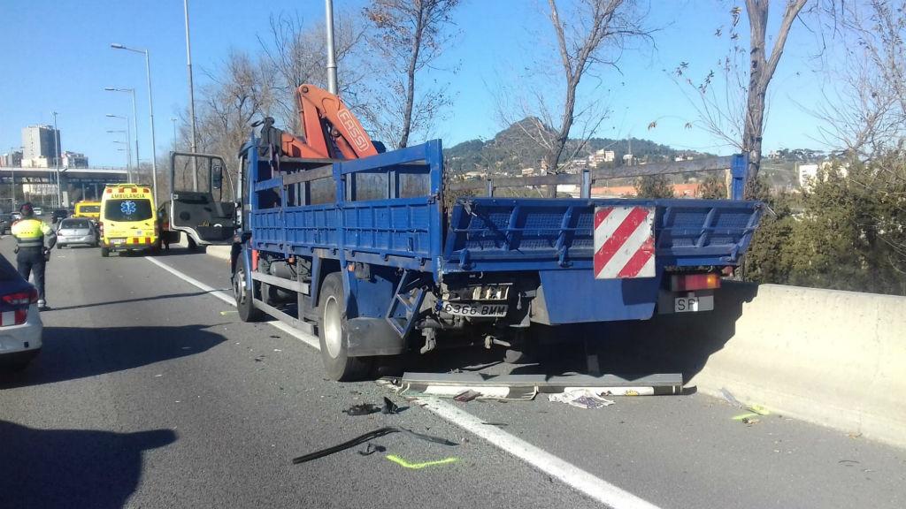 Imatge d'arxiu d'un accident a la carretera C-58