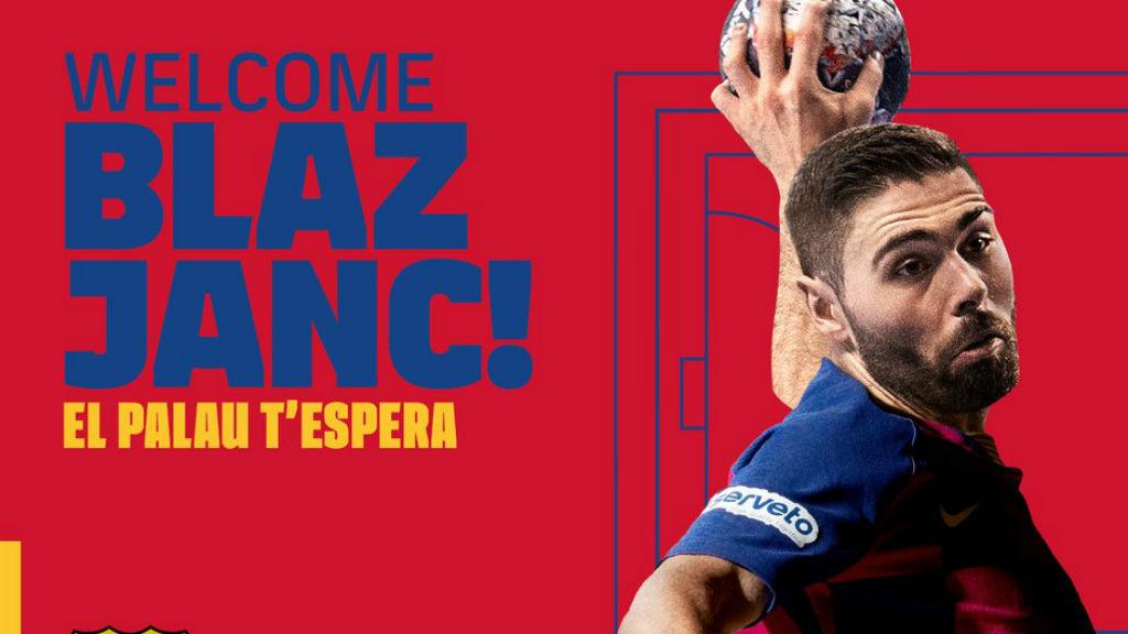 Blaz Janc, nou jugador FCB Handbol