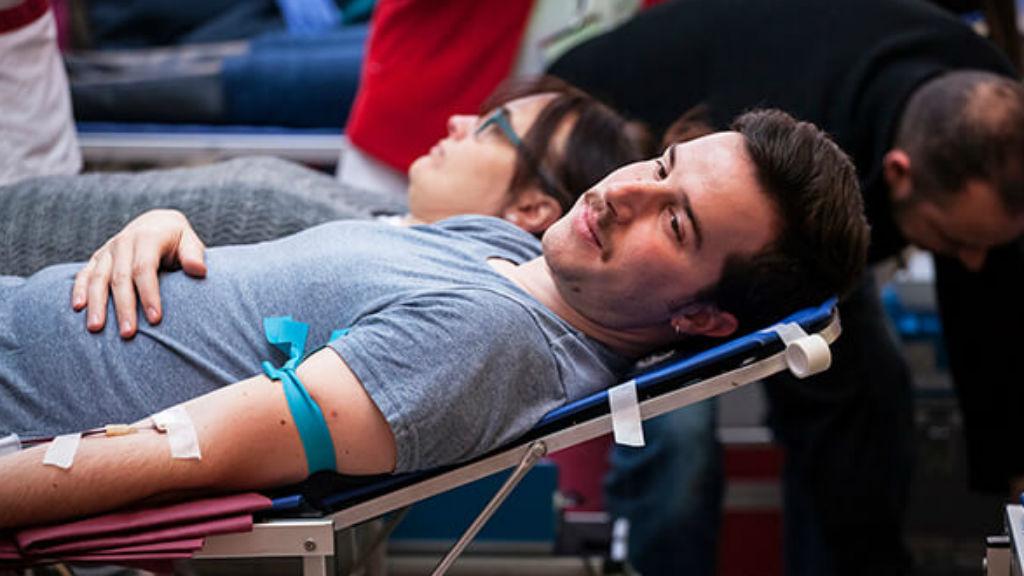 donant sang banc de sang