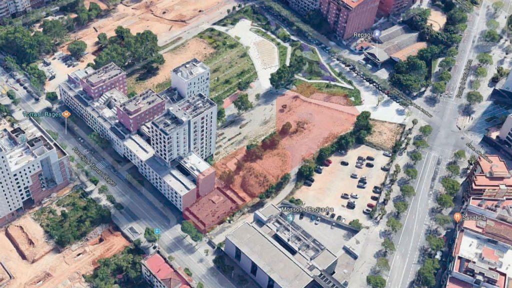 Imatge aèria projecte habitatges Casernes Sant Andreu