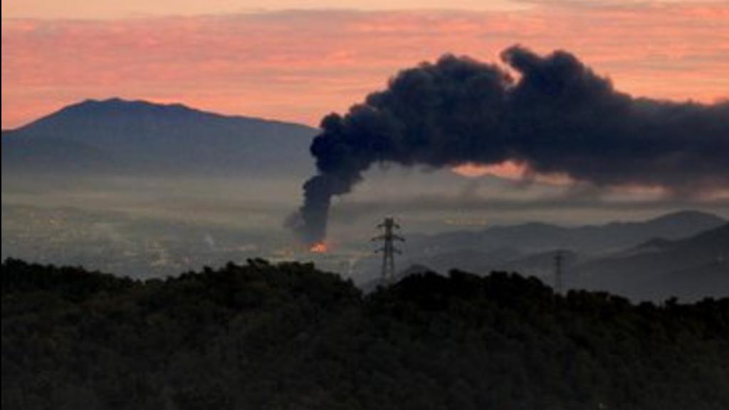 Incendi a Montornès del Vallès
