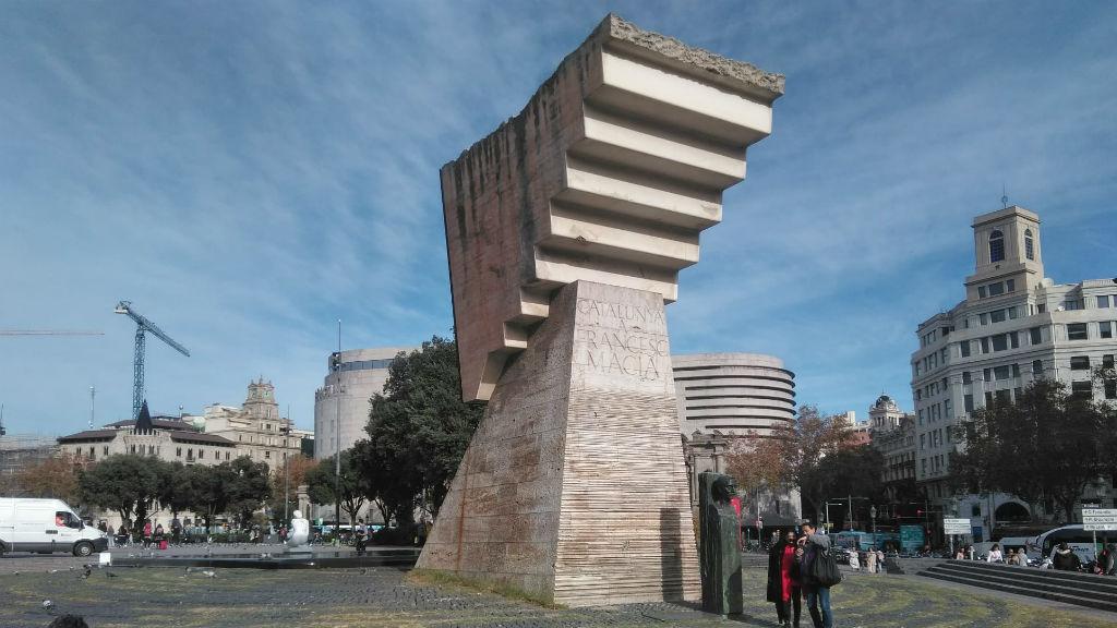 Monument Francesc Macià plaça Catalunya