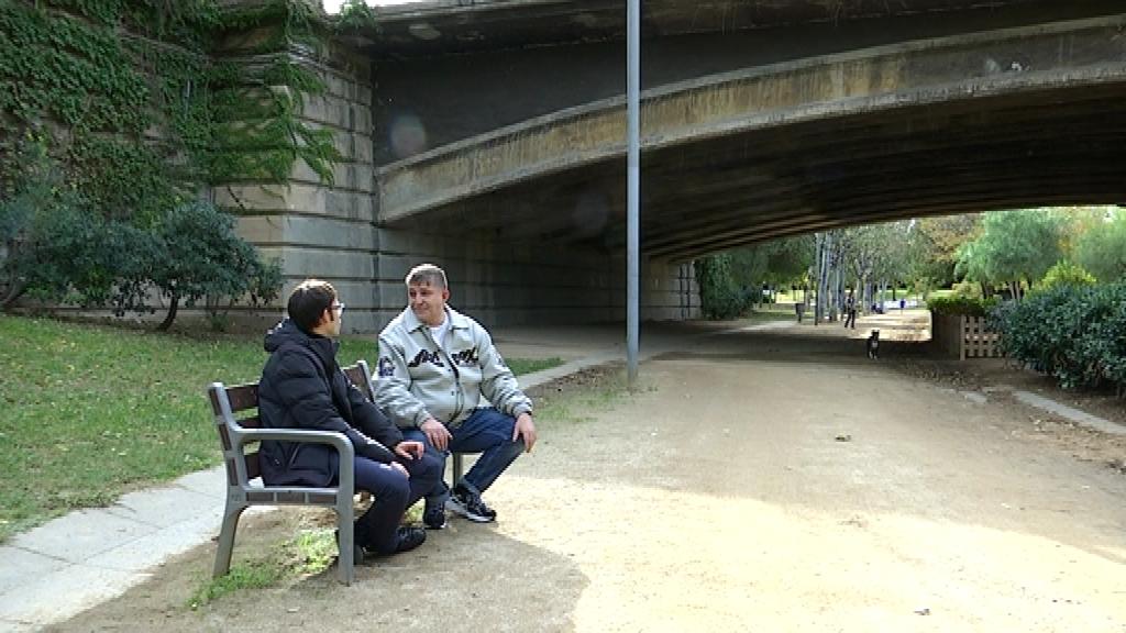 Molina i Garrido al pont de la Marina.