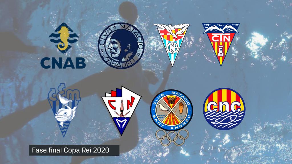 Equips classificats Copa Rei waterpolo