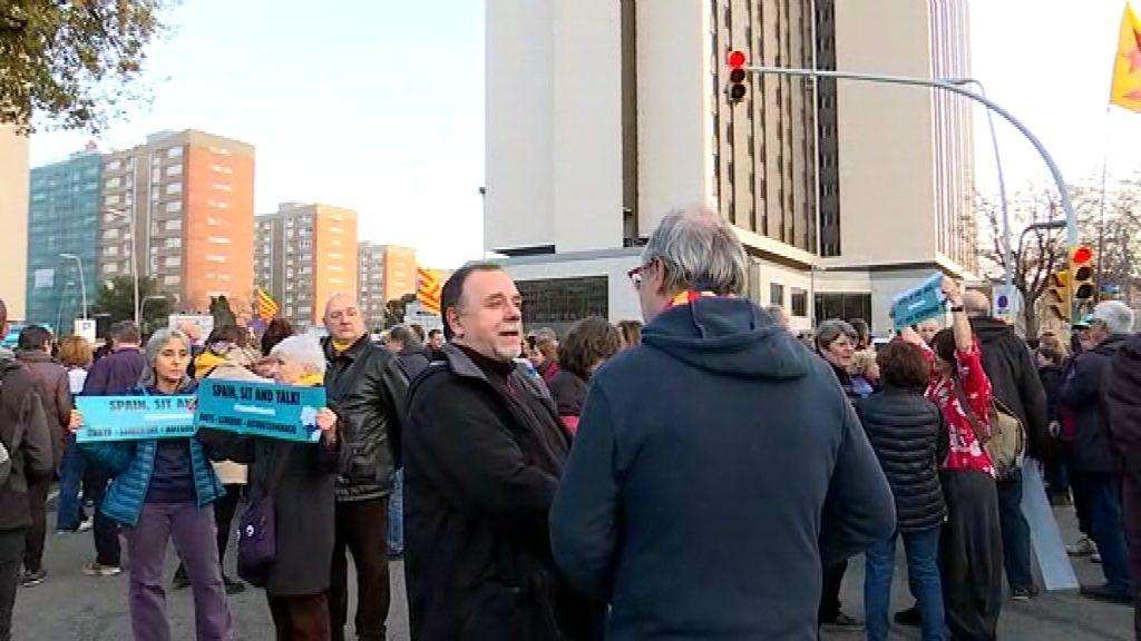 Protesta de Tsunami Democràtic a l'Hotel Sofia