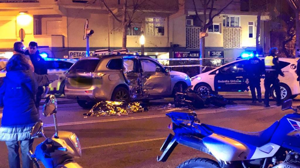 Accident motorista Passeig Maragall