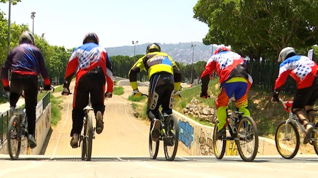 Sortida d'una cursa de BMX