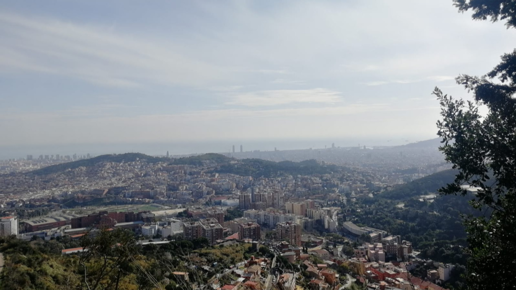 Vista de Barcelona des de Collserola