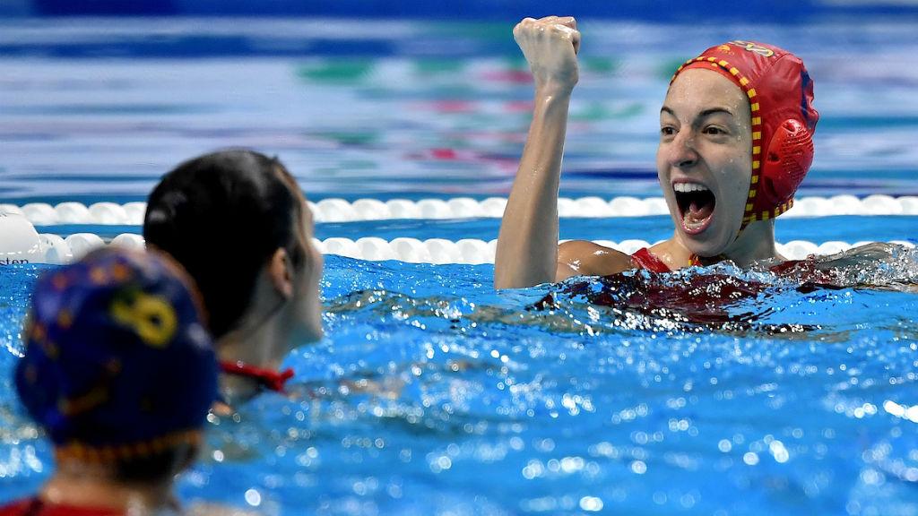 Laura Ester, jugadora de la selecció espanyola femenina de waterpolo que jugarà la final
