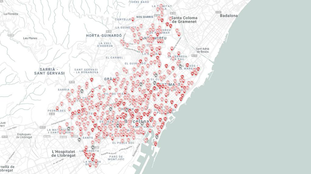 Mapa Bicing