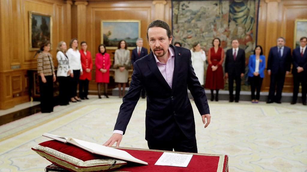 Pablo Iglesias pren possessió vicepresidència