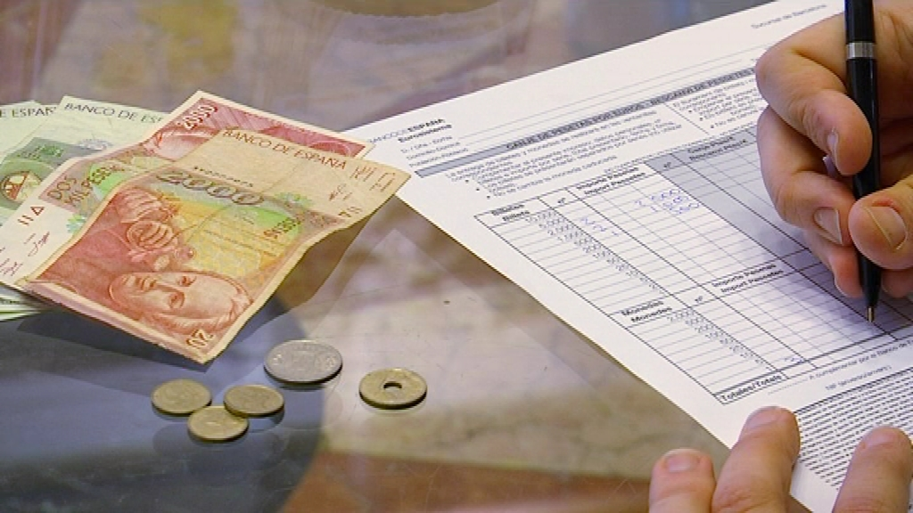 Formulari per canviar pessetes a euros