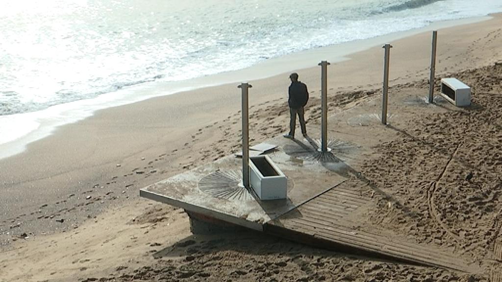 Efectes temporal Gloria a les platges