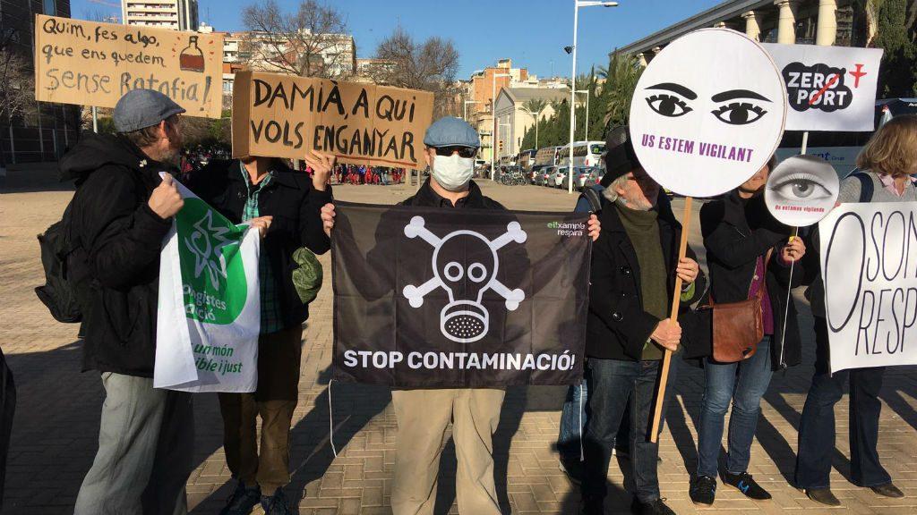 protesta cimera catalana
