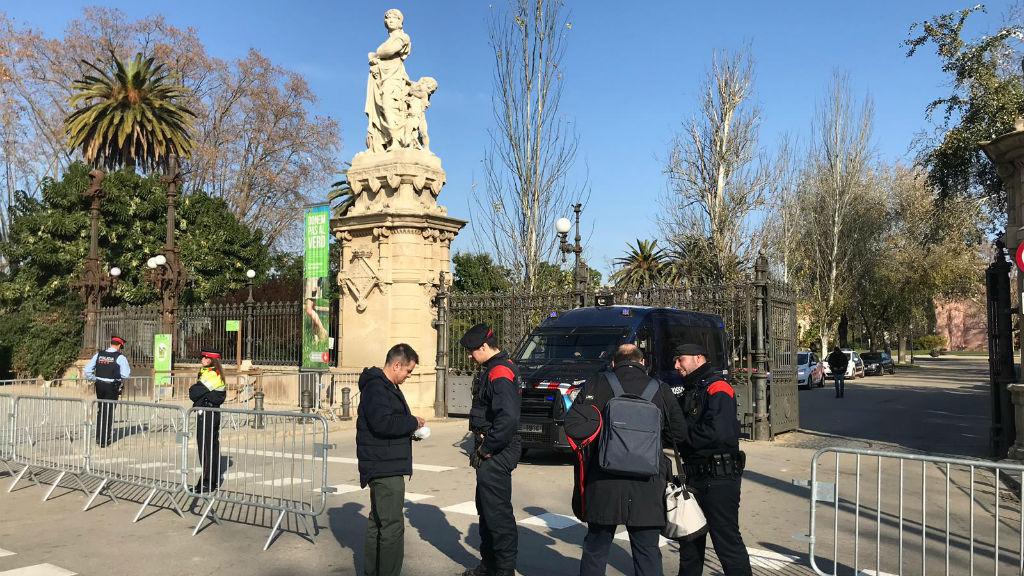 El Parc de la Ciutadella blindat pels Mossos d'Esquadra