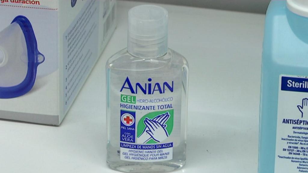 coronavirus barcelona gel desinfectant