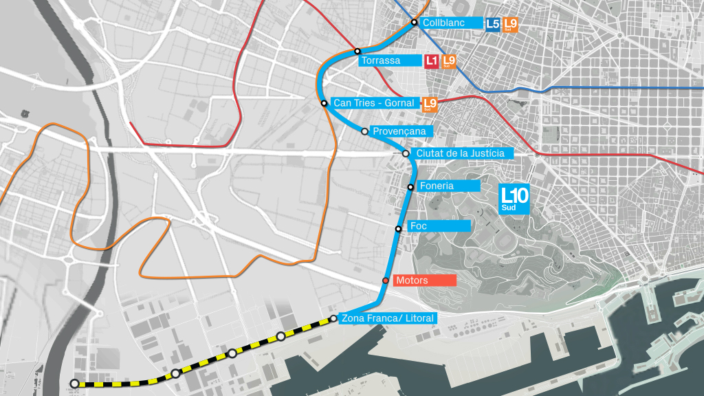 Mapa L10 Sud Zona F ranca