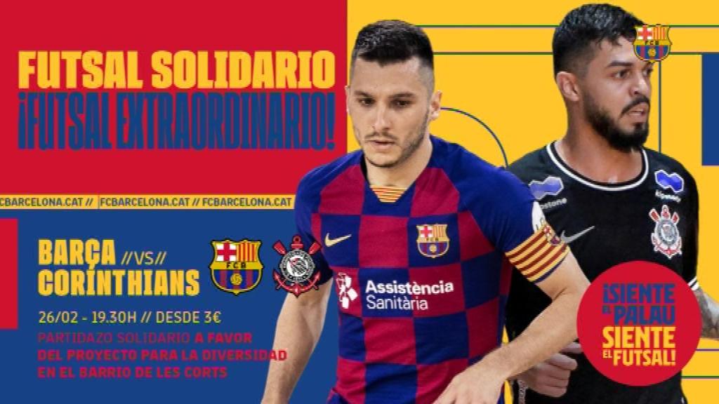 Cartell amistós Barça - Corinthians