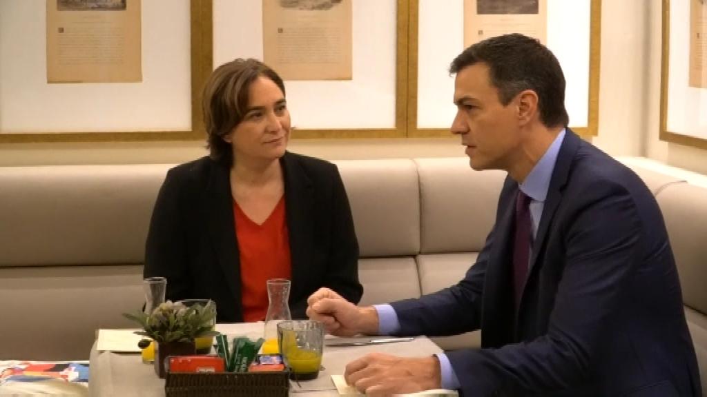 Ada Colau i Pedro Sánchez