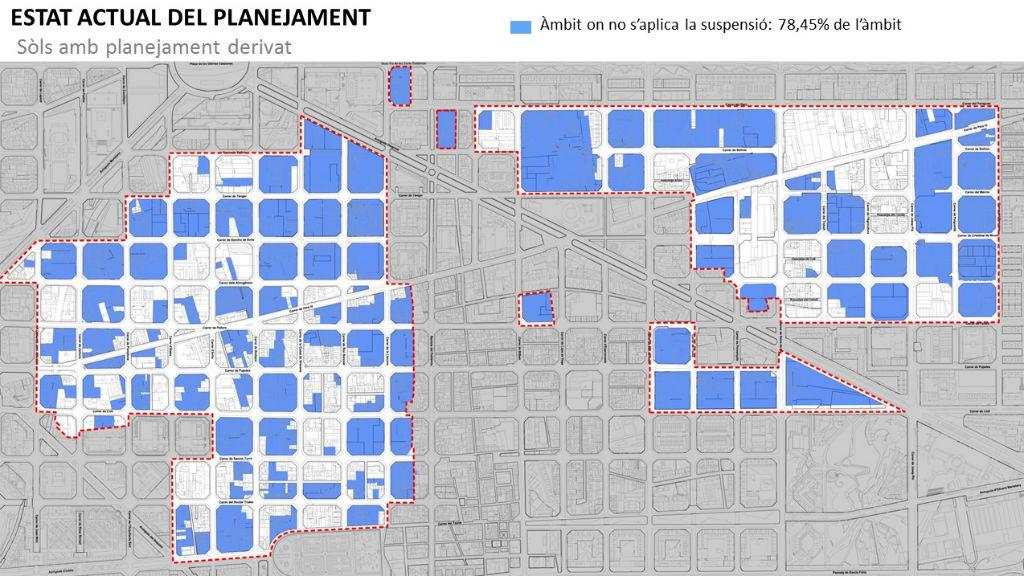 mapa suspensió llicències 22@