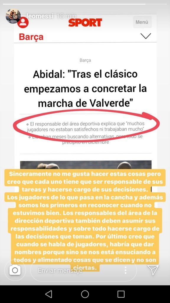 Messi i Abidal declaracions Sport