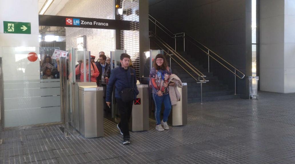 Estrena estació metro Zona Franca
