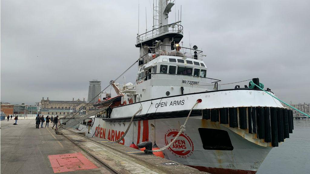 El vaixell Open Arms