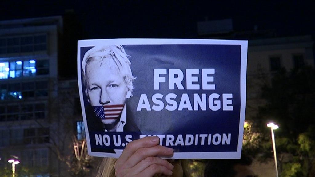 Protesta Julian Assange