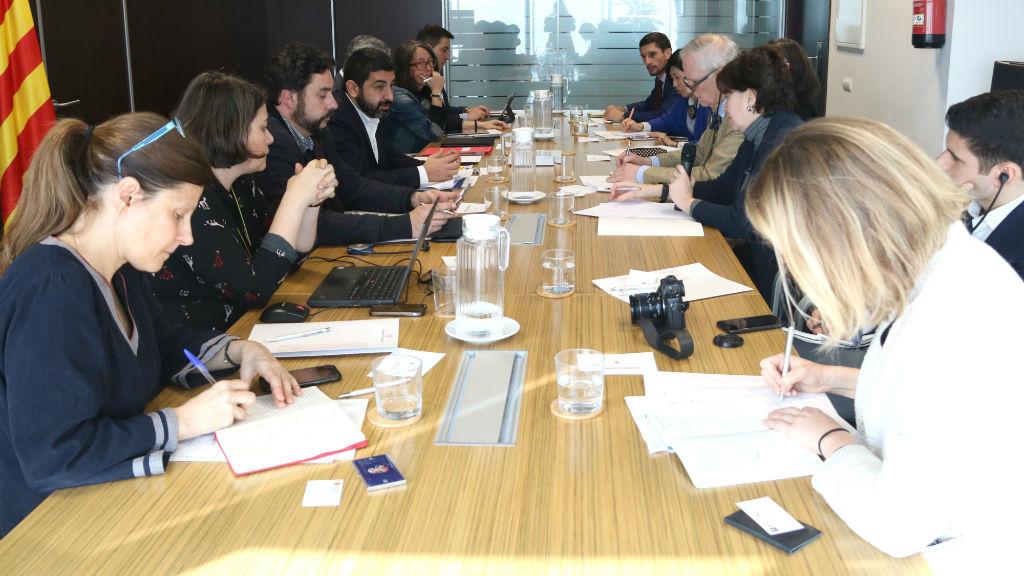 Trobada del relator de l'ONU, Philip Alston, amb la Generalitat