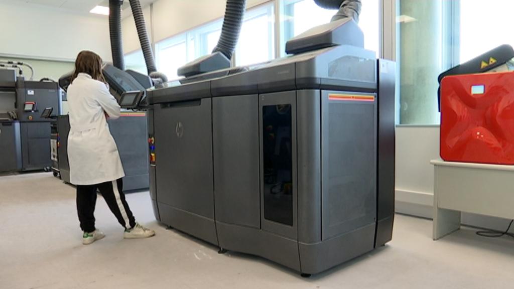 Impressora industrial al Consorci de la Zona Franca