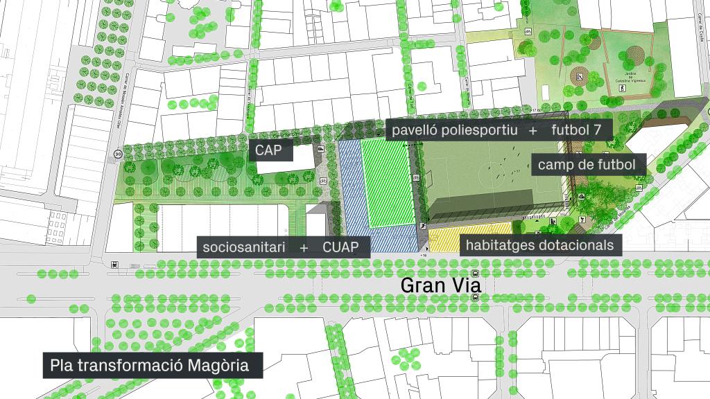 mapa equipaments Magòria