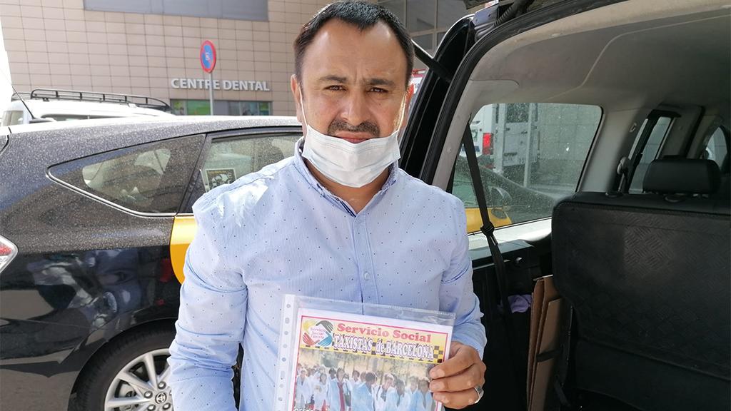 Shahbaz Khatana, impulsor del taxi solidari