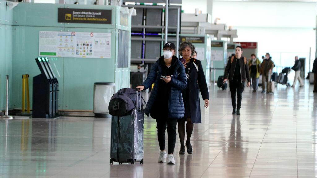 Aeroport del Prat el 18 de març de 2020