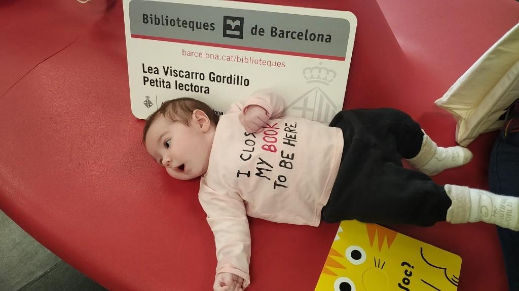 La Lea, l'usuària de les biblioteques més jove