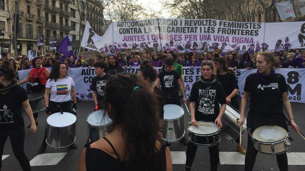 batucada vaga feminista 8m 2020